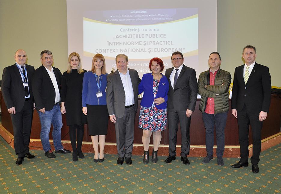 """Conferinţa națională cu tema: """"ACHIZIŢIILE PUBLICE ÎNTRE NORME ŞI PRACTICI. CONTEXT NAȚIONAL ȘI EUROPEAN"""""""